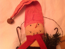 Snowman in a Black Bag Christmas Ornament Let It Snow image 4