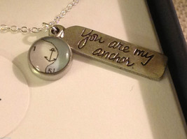 You are my Anchor charm pendant necklace  by Chart Hand Made in USA
