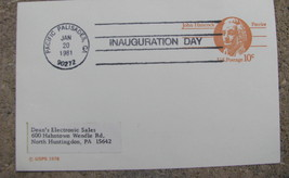 Post card Commemorative Inauguration Day 1981 Pacific Palisades Ronald R... - $9.98