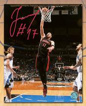 Jonas Valanciunas Toronto Raptors Signed Slam Dunk 8x10 Photo - £42.02 GBP