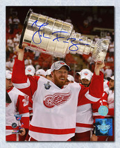 Johan Franzen Detroit Red Wings Signed Stanley Cup 8x10 Photo - $32.50