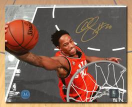 DeMar DeRozan Toronto Raptors Signed Slam Dunk Spotlight 8x10 Photo - £82.13 GBP