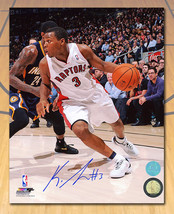 Kyle Lowry Toronto Raptors Signed Tdot First Season Action 8x10 Photo - $95.00