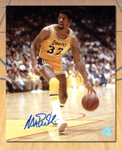 Magic Johnson Los Angeles Lakers Signed Showtime Basketball 8x10 Photo - $107.50