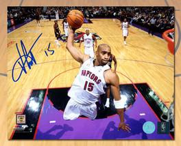 Vince Carter Toronto Raptors Signed Net Cam Dunk 8x10 Photo - £82.13 GBP