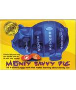 Money Savvy Piggy Bank BLUE-4 SLOTS:SAVE,DONATE,SPEND,INVEST-PARENTS' CH... - $27.99