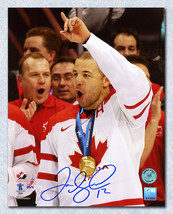 Jarome Iginla Team Canada Signed 2010 Olympic Gold Medal 8x10 Photo - $85.00