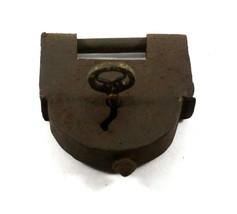 Old Lock Key Padlock Iron Metal Vintage Cabinet Lock - $115.90