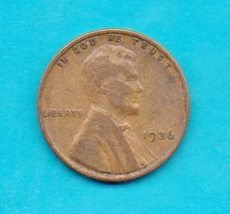 1936  Lincoln Wheat Penny- Circulated - $0.35