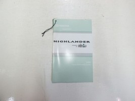 2008 Toyota Highlander Quick Reference Guide Booklet WORN FACTORY OEM BOOK 08*** - $12.82
