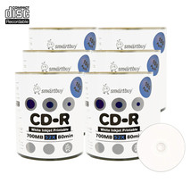 600 Pack Smartbuy 52X CD-R 700MB 80Min White Inkjet Printable Blank Record Disc - $93.11