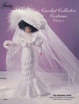 1905 Wedding Gown Vol 1, Paradise Doll Clothes Crochet Pattern Booklet P-001 - $5.95