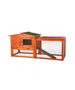 Small Wooden Rabbit Hutch w/ Outdoor Run Easy Clean Outdoor Bunny House ... - $164.88