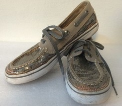 Sperry Topsider Sequin Boat Shoes Girls' 2.5 Ba... - $21.24