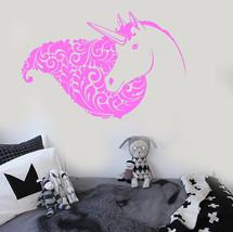 Vinyl Wall Decal Unicorn Head Girl Fantasy Room Stickers Mural (ig3684) - €16,80 EUR+