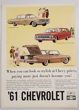 1961 Print Ad Chevrolet Impala Sedan,Brookwood Station Wagon,Bel Air Spo... - $9.19
