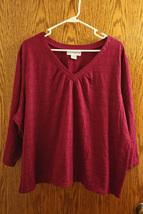 Sag Harbor Women's Pink 3/4 Sleeve Top - Size Plus 3x - $11.99