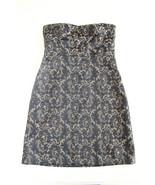 Ann Taylor Loft Black & Gold/Tan Jacquard Sheath Strapless Dress Size 10... - $28.91