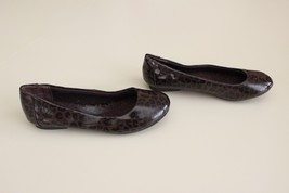 BOC Born Batik Size 6 / 36.5 Animal Leopard Print Balet Flat ShoeDark Brown - $22.74