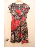 Banana Republic MAD MEN Size 2 Floral Dress BEGONIA Joan Sheath Pockets - $37.59
