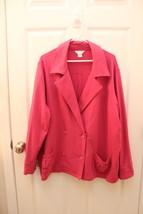 C.J. Banks Christopher & Banks PLUS Size 2X Pink Sweatshirt Peacoat Jacket - $24.07