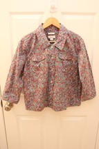 Christopher & Banks Petite Multicolor Mosaic Button Scalloped Jacket Siz... - $19.23