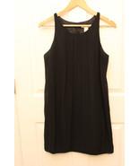 White House Black Market Dress Black Sheer Pleated Bubble Hem Size 6 - $29.67
