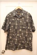 Woolrich Hawaiian Aloha Shirt XL Tropical Fish Leaf  Floral Button-Front... - $19.23