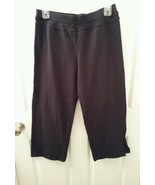 NWT Paiva Relaxed Leg Crop Athletic Pants Capris Size S Yoga Workout Black - $26.99