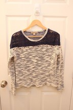Nine West Vintage America Collection Petite Size PS Navy White Sweater M... - $16.80