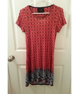 Priddy by Puella Anthrpologie Size S Stretch Open Back PaisleyTunic Shif... - $22.17
