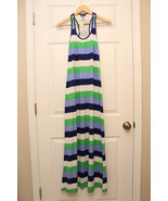 TOMMY BAHAMA Stretch Cotton Blue Green Striped Maxi Dress size Small NWT... - $43.39