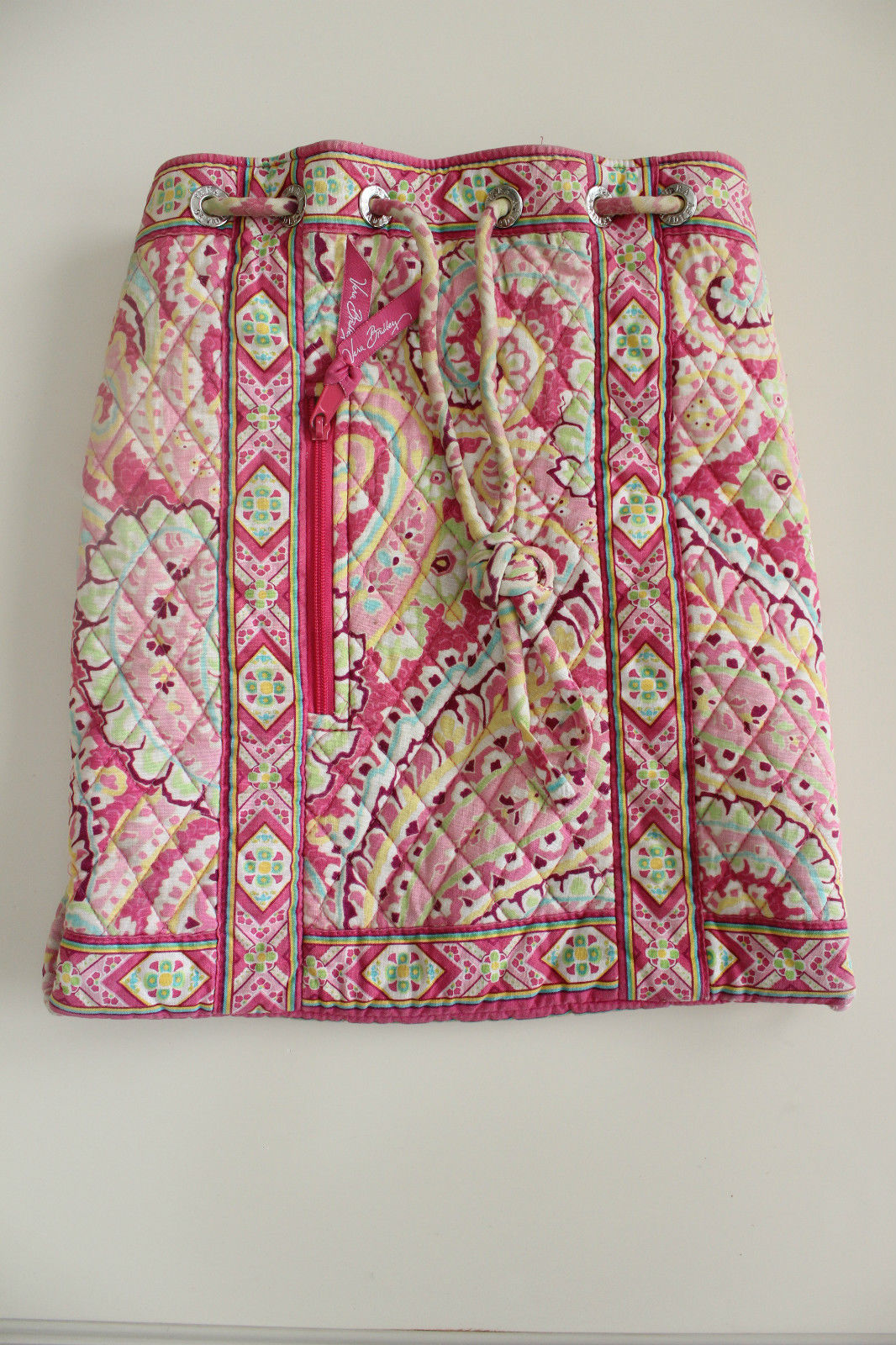 d8c0cf110751 S l1600. S l1600. Previous. Vera Bradley drawstring backpack purse in  retired Capri Melon pattern