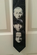 3 Three Stooges Larry, Moe & Curly Neck Tie 1996 Comedy III Ralph Marlin... - $14.47