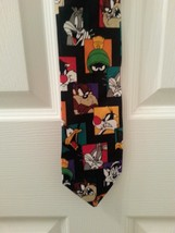 Looney Tunes Novelty Neck Tie Warner Bros. 1997 Color Block Bugs Martian - $12.57