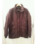 Womens DKNY Size LARGE Brown Down Puffer Trench Coat Long Jacket  EUC Fu... - $36.74