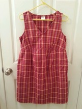 Motherhood Maternity Cotton Plaid Dress - Red - Size Medium - EUC - $12.57