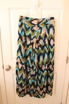 Soho Chick Sz M Jessica Pants Palazzo Flair Flowing Pants Blue Multi Col... - $33.76