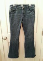 """White House Black Market BLANC Size 12 R Dark Denim Bootcut Jeans 31"""" Inseam - $10.89"""