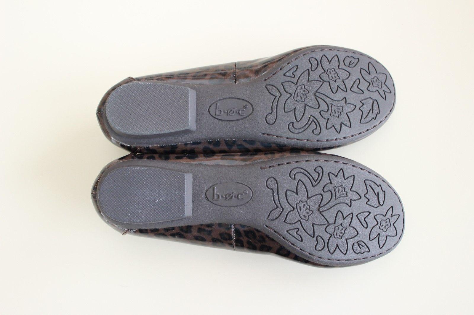 BOC Born Batik Size 6 / 36.5 Animal Leopard Print Balet Flat ShoeDark Brown