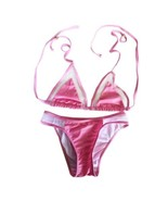 Bikini Swimwear Swimsuit Sexy Gauze   pink - $14.99
