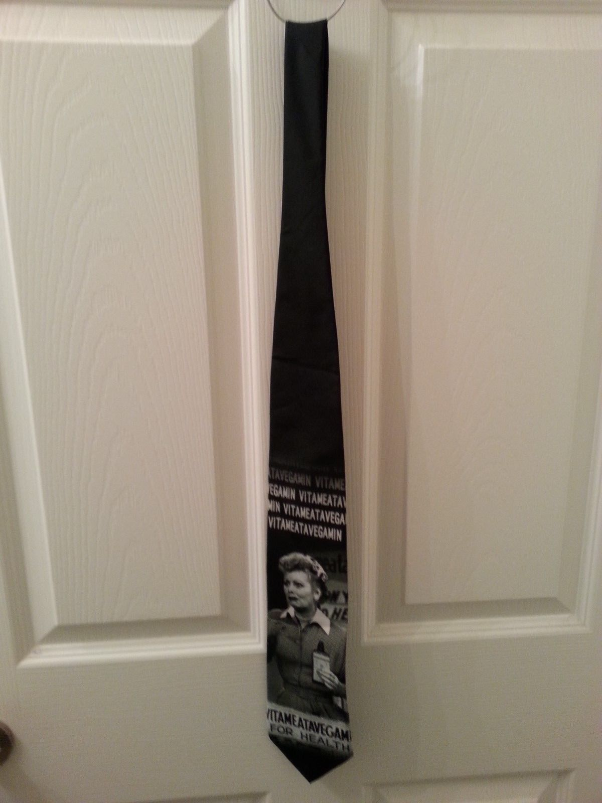 "Elvis Presley Novelty Neck Tie ""Born to Ride"" Black White Ralph Marlin 1996 56"""