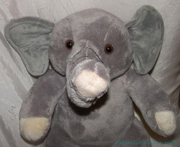 "RARE Retired 2014 BUILD A BEAR Plush 16"" Velvety Gray ASIAN ELEPHANT No ... - $67.57"