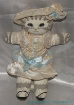 Vintage 1980s APPLAUSE DUSTYN SCHEAR Plush CLASSIC CAT DOLLY Gray Tabby ... - $29.02