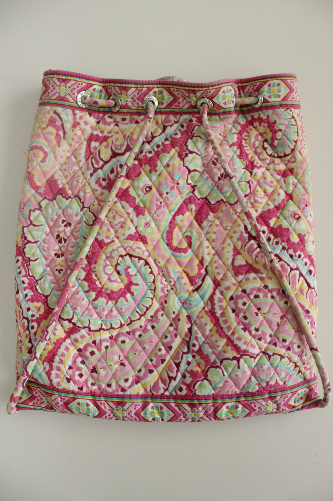 af1f081f7781 Vera Bradley drawstring backpack purse in retired Capri Melon pattern