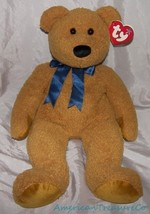 "NEW Rare 1999 TY HUGE Beanie Buddy Plush Caramel Chenille 20"" Big FUZZ T... - $43.36"