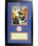 Harry Caray autographed framed check masterpiece with patch (Chicago Cubs) - $449.00