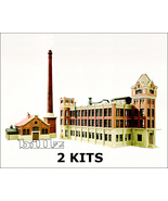 KIBRI N 7320 7322 - 1870s Factory and Boiler House - 2 KITS - $154.50