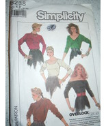 1987 Simplicity Misses Size 8-14 Knit Tops Pattern #8238  - $5.99