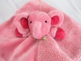 Carters Pink Elephant Blanket Lovey RATTLE Gree... - $11.60